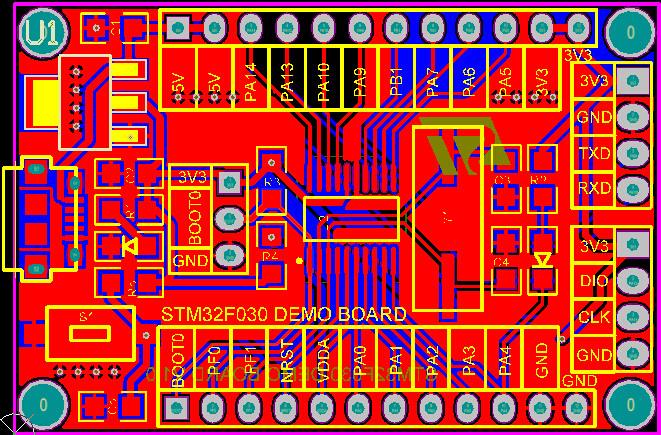48 MHz STM32F030F4P6 Small Systems Development Board CORTEX-M0 Core 32bit Mini System Development Panels2