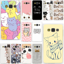 Cute GINGER PIZZA bowknot cat kawaii Hard Samsung Galaxy A3 A5 J3 J5 J7 2015 2016 2017 & Grand Prime Note 5 4 3 2 Case Cover - Lavaza Little Man Store store