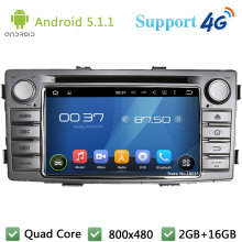 Quad Core 1Din Android 5.1.1 Car DVD Video Player Radio Stereo USB DAB+ BT FM 3G/4G WIFI GPS Map For TOYOTA Hilux 2012 2013 2014(China)