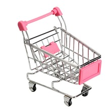 Mini Supermarket Handcart Shopping Utility Cart Mode Storage Funny Folding Shopping Cart With Wheels Size 120*80*115MM