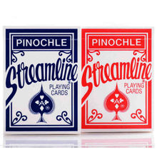 1 Deck Streamline Pinochle Red or Blue Carditry Deck United States Playing Cards(China)