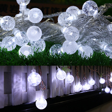 6W 4.5V 1.2m 10 LED Bubble Ball String Lights Wedding Christmas Party Decoration Fairy String Lamp Battery Operate 3 Colors MFBS