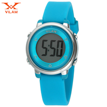 VILAM Children watch LED Digital Sports Relojes Mujer Boys girls fashion Kids Cartoon Jelly Waterproof Relogio Feminino 2016