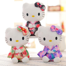 1 pcs typical 20cm Creative Stuffed Animal Toy Hello Kitty Kimono KT Kawaii Doll Anime Toy For Girl Birthday's Gift Kid Toy(China)