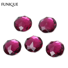FUNIQUE 12mm Round Resin Cameo Cabochon Dome Jewelry Flatback Embellishments Scrapbooking For DIY Jewelry Gifts Multicolor,30PCs(China)