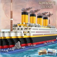 Christmas Titanic Cruise Military Ship Building Blocks Iceberg Model Diamond Building Blocks Sets Toys For Children(China)