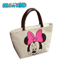 2017 New Women's Handbags Fashion Shoulder Bags Messenger Bag Cute Cartoon Pattern Mickey Hello Kitty Tote Shopping Bag nbxq90