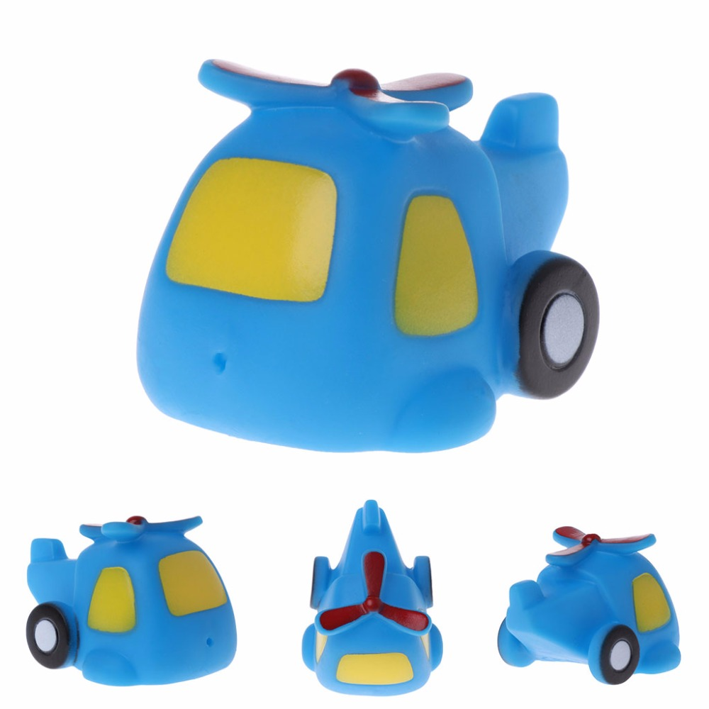2018 Hbb Cool Bath Toy Baby Toys Colorful Car Boat Soft Rubber Toys ...