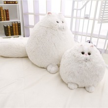Dorimytrader New Cute 20'' / 50cm Super Lovely Plush Funny Soft Stuffed Giant Animal Persian Cat Toy Girls Gift White Cat Doll(China)