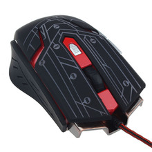 MOSUNX Futural Digital 3200DPI LED 6 Button Optical Wired Gaming Mouse Mice For PC Gamer BK F20