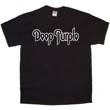 DEEP PURPLE Band logo Rock Thrash Black HEAVY METAL PUNK POP t shirt tee