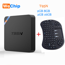 Wechip T95N Android 5.1 TV BOX Amlogic S905 quad-core cortex-A53 2G/8G Bluetooth 4.0 KODI 16.0 Smart Android Set Top Tv box(China)