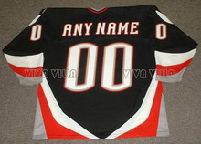 Throwback Hockey Jersey Custom Any Name Any Number High Quality Stitched Logo Ice Hockey Jersey Black White Blue Free Shipping(China)