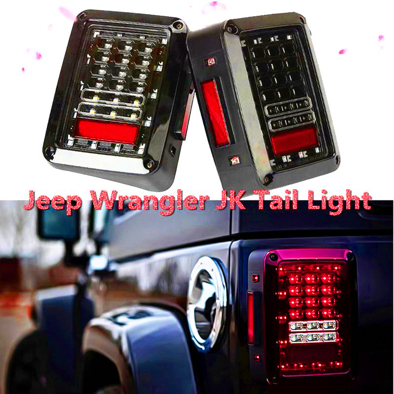 Auto Accessories Parts 07-16 Jee-p Wrangler JK led tail light 4x4 off road Brake Reverse Turn Singal Lamp Daytime Running Bulb<br><br>Aliexpress