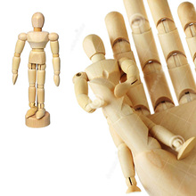 Mini 4.5 inch(Easy hold in hand/put in Pocket) Wooden Jointed Twisty Man Figures, Kill Boring Hand Toy, Kids/Adults Fidget Toy(China)