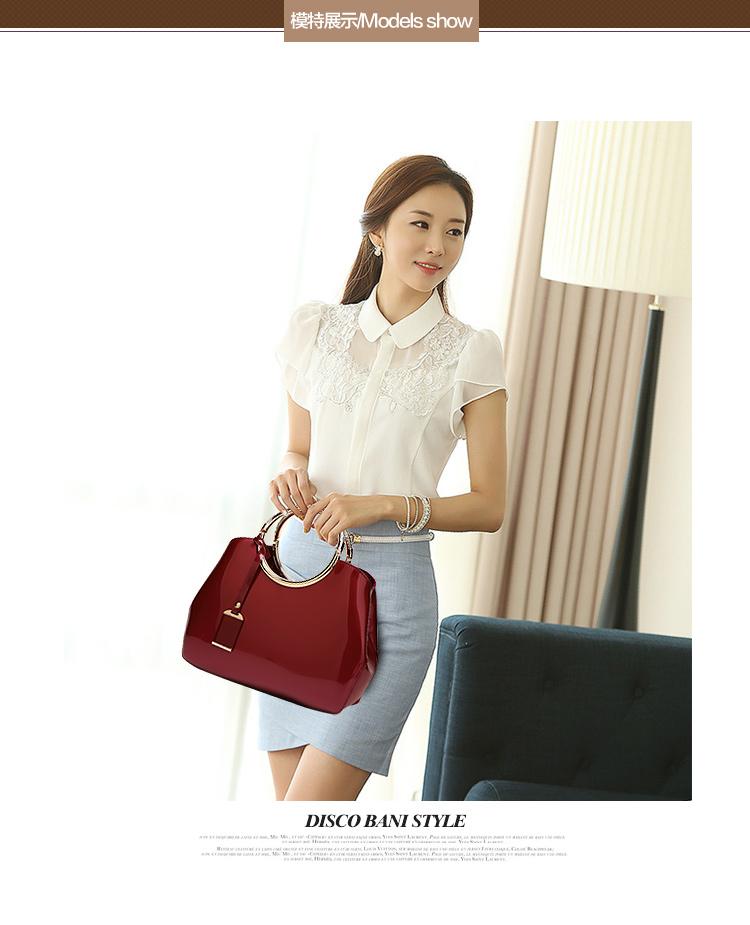 New High Quality Patent Leather Women bag Ladies Cross Body messenger Shoulder Bags Handbags Women Famous Brands bolsa feminina (9)