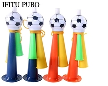 1pcs 19*5.5cm Mini Plastic Trumpet Toy Stadium To Cheer Audio Speakers Party Supplies Joy Football Atmosphere Trumpet Horn WYQ(China)