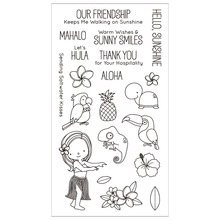Cartoon Girl Clear Silicone Rubber Stamp for DIY Scrapbooking/photo Album Decorative Craft Clear Stamp Chapter