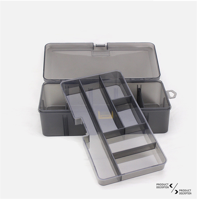 Double Layers Thickened Size Plastic Lure Fishing Box for Fishing Bait Tools Accessories Fishing Tackle Storage Box 21x12x6.5cm (9)