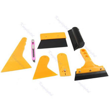 1Set Car Vehicle Deluxe Window Vinyl Film Wrap Application Installation Kit Tools Set(China)