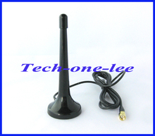 1pc SMA male connector telescopic Digital Freeview 16dbi ~ 17dbi gains DVB-T TV HDTV Antenna Aerial free shipping(China)