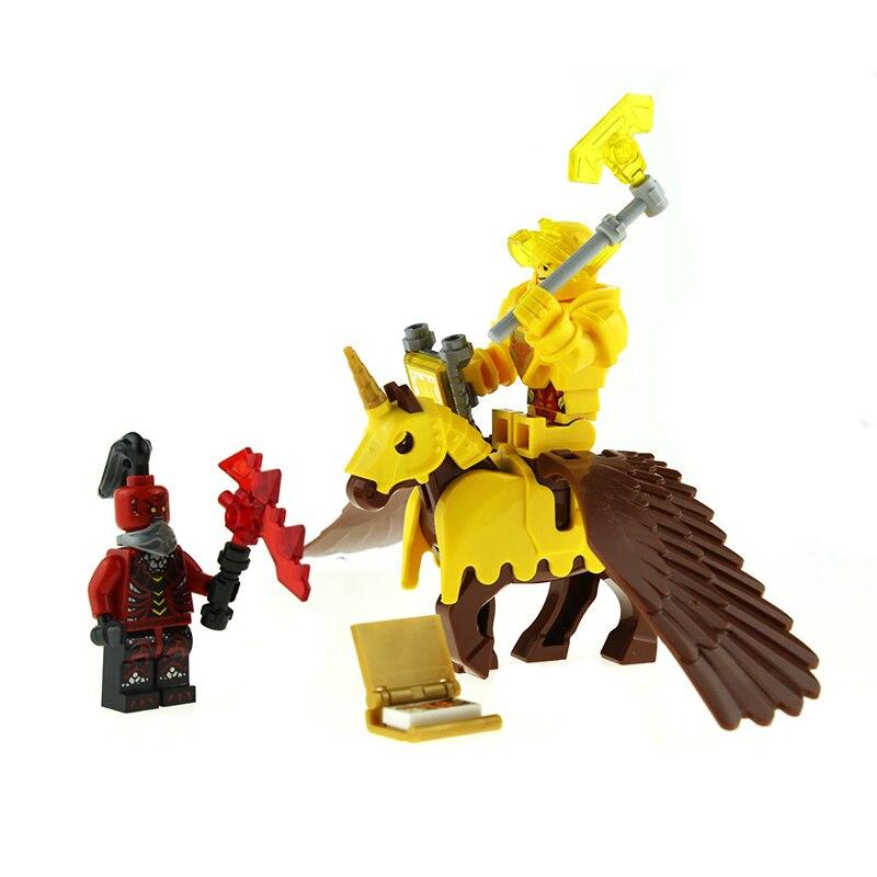 Nexus Knights Armor Pegasus Minifigures Toy Figures Bricks Axl Clay Jestro Aaron Macy Lance Robin Building Blocks For Children<br><br>Aliexpress