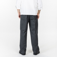2017New Arrival Chef Uniform Restaurant Pants Kitchen Trouser Chef Pants Elastic Waist Bottoms Food Service Pants Mens Work Wear