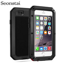 For iphone5s Heavy Duty Armor Shockproof Tough Hybrid Metal Anti Shock Proof Case for iPhone 5 SE Protective Cover Coque Capinha