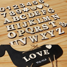1 set DIY English letters numbers Wooden Craft Home Decoration Alphabet Wedding Birthday Figurines Miniatures