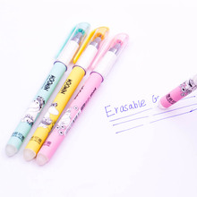 Kawaii Material School Erasable Pen Creative Office Supply Stationery Good Color Gel Pens Set 1PCS(China)