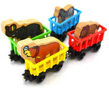 Wooden Railway Circus Train Animal Train Set ( Zebre, Elephant, Wolf, Sea lion ) 4 Style Assorted