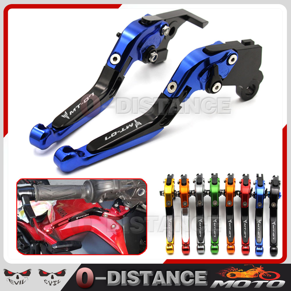 For YAMAHA MT07 MT-07 FZ-07 Tracer 700 2014-2015 2017 Motorcycle Adjustable Folding Extendable Brake Clutch Levers logo MT-07<br><br>Aliexpress
