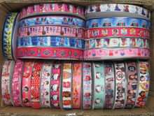 ( Part 1 ) Pick Size 9 16 22 25 38 50 75 mm Width brand logo custom Ribbons sports cartoon character Printed Grosgrain Ribbon P1