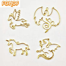 Buy 4pcs Cool Mythical Creatures Decor Pendant Unicorn Frame Hard Type Resin Craft Pegasus Bezel Dragon Charm Phoenix Jewelry DIY for $3.75 in AliExpress store
