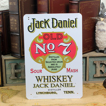 Whiskey Jack Daniel old NO.7! Distilled from selected grain and is Absolutely pure! vintage metal sign tin plate wall decoration