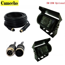 Car Parking Camera Nightvision Waterproof Rear View Camera With 5M 10M 15M 20M Aviation Connector Plug Cable For Bus Truck