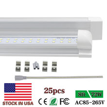 Integration 8ft led tube lights double row led tube light replace T5 T8 fluorescent lights cool white 6500K 72W US SHIP NO TAX(China)