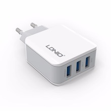 LDNIO A3301 3 USB Plug 5V 3.1A Quick Charger EU Power Socket Smart Allot Required Current For iPhone iPad Samsung Travel Charger
