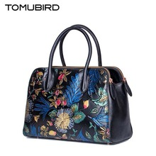 TOMUBIRD 2016 New genuine leather women bag retro fashion painted embossing leather art bag women leather handbags shoulder bag