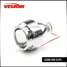 2.5 Inch Hid Projector Lens H1 H4 H7 Car Headlight Bixenon Hid Xenon Kit Hid Projector Lens headlight Free Shipping(China)
