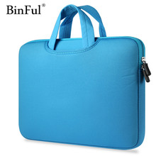 "BinFul 8 color Neoprene laptop case sleeve bag Computer Pocket for Macbook Pro Air Retina 11"" 12"" 13"" 15"" 14 15.6 inch(China)"