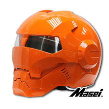 Masei ironman motorcycle helmet  bright orange Motocross Motorbike moto helmet crash Helmet Moto Knight Mask Skull moto helmet