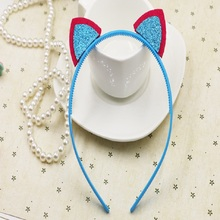 High quality cute baby hollow out cat ear headbands girls/Infant hairbands kids head band children hair accessories,10pcs/lot