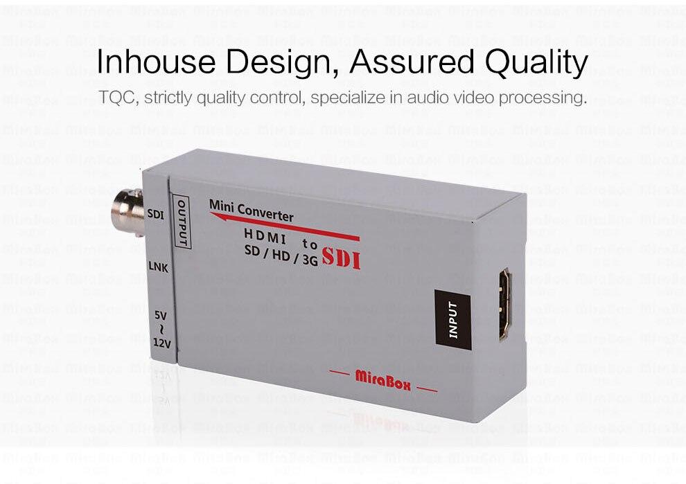 Mini 3g HDMI To SDI Converter Full HD 1080P HDMI to SDI Adapter Video Converter with Power Adapter for Driving HDMI Monitors (6)