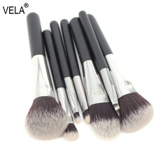 VELA Makeup Brush Set Travel MINI 7pcs Makeup Tools Kit Good Quality Slim Beauty Set(China)