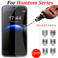 2pcs HOMTOM HT10 HT3 HT16 Tempered Glass 100% original New Screen Protector Film For HOMTOM HT 10 HT 3 HT 16 Pro Cell Phone
