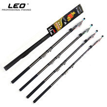 LEO Exclusive Carbon Fiber Rock Fishing Rod Telescopic Ultralight Fishing Pole 2.7/3.6/4.5/5.4M Fishing Tackle