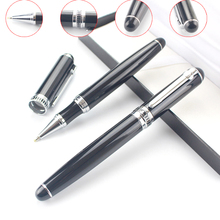 Luxury High Range 0.5mm Black ink Metal Ballpoint pens Business Ball pen Caneta Stationery Office school supplies Gel pens 03664(China)