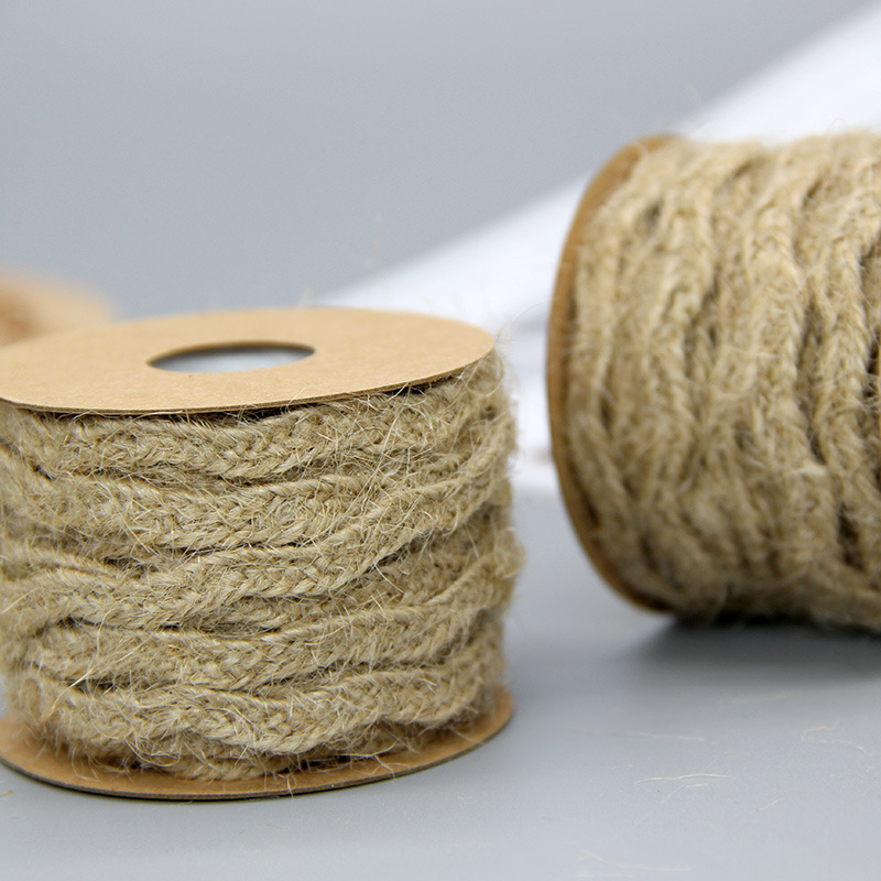 6mm*5M Natural Jute Twine Burlap String Hemp Rope Party Wedding Gift Wrapping Cords Thread DIY Scrapbooking Florists Craft Decor 3