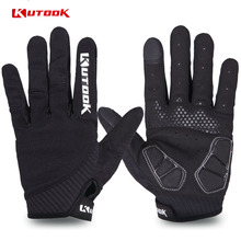 Full Finger Touch Screen Cycling Gloves Road MTB Mountain Bike Gloves Bicycle Outdoor Sport Gel Pad Gloves Breathable Equipment